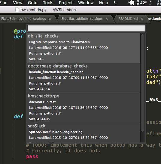 AWS Lambda Editor Plugin for Sublime Text – Mischa Spiegelmock