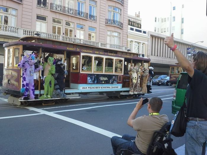 furry cable car